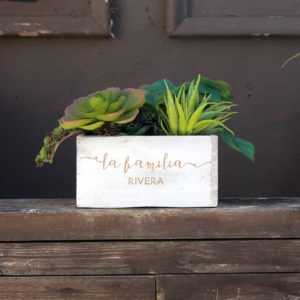 7 x 7 Personalized Planter Box | La Familia