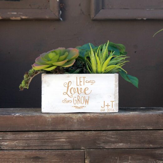 7 x 7 Personalized Planter Box | Let Love Grow JT