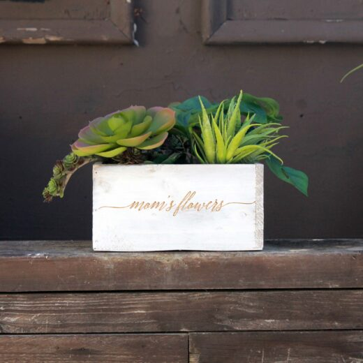 7 x 7 Personalized Planter Box | Moms Flowers