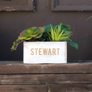7 x 7 Personalized Planter Box | Stewart