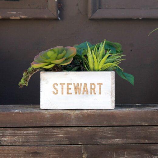 7 x 7 Personalized Planter Box | Stewart