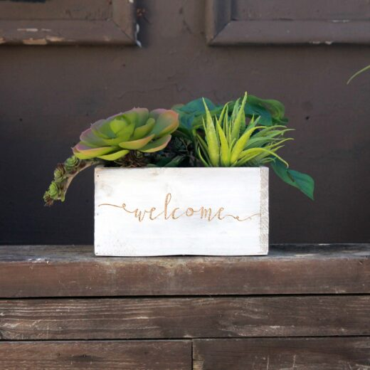 7 x 7 Personalized Planter Box | Welcome