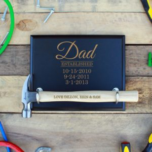 Custom Hammer Plaques   Dad EST