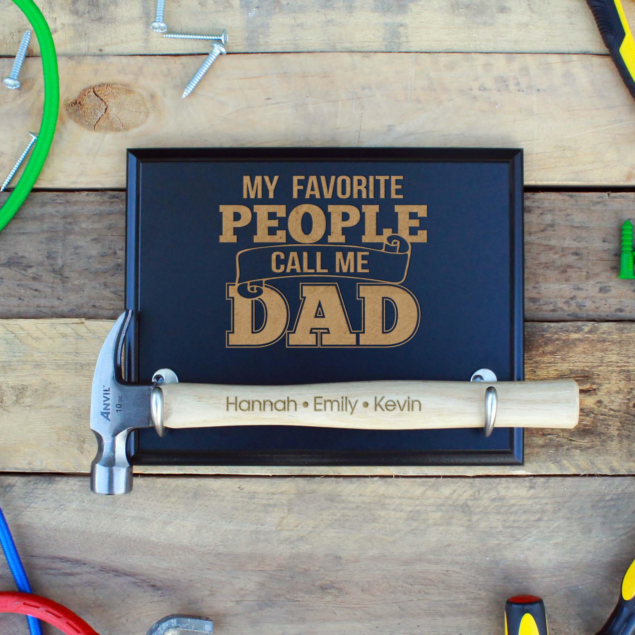 Custom Hammer Plaques | Favorite Dad