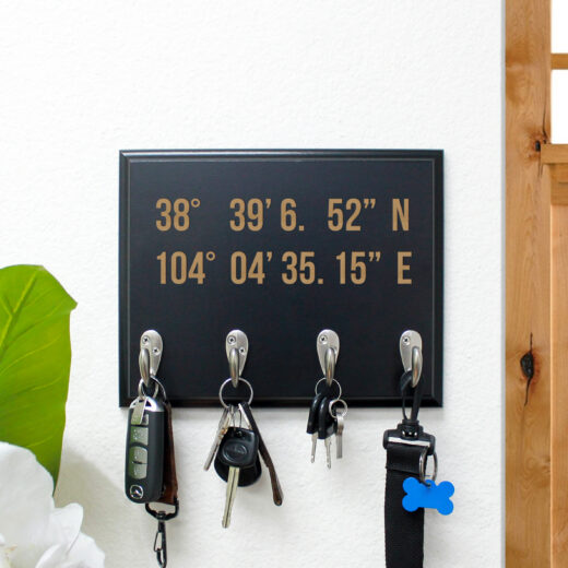 Personalized Key Rack | Coordinates