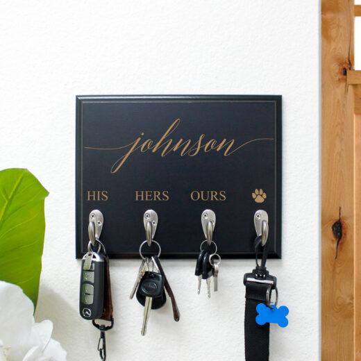 Personalized Key Rack | Johnson