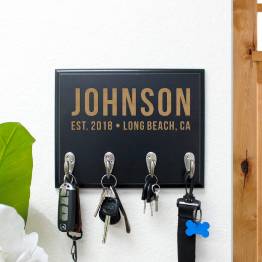 Personalized Key Rack | Johnson 2