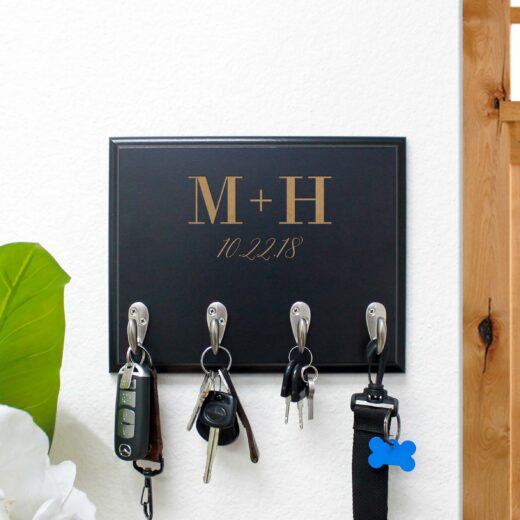 Personalized Key Rack | M + H