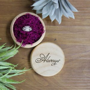Personalized Wood Ring Box | Always