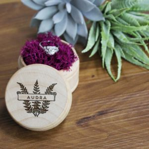 Personalized Wood Ring Box | Audra
