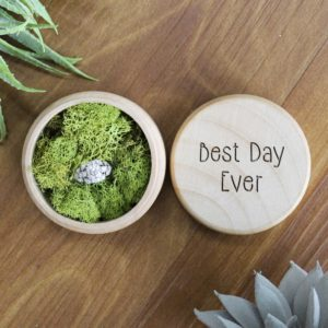 Personalized Wood Ring Box | Best Day Ever