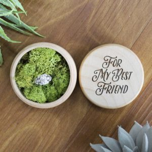 Personalized Wood Ring Box | Best Friend