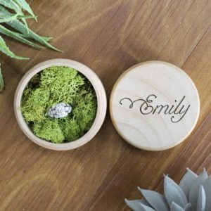 Personalized Wood Ring Box | Emily