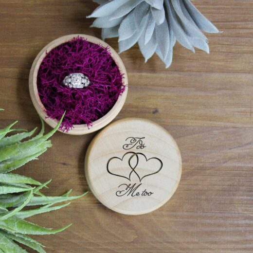 Personalized Wood Ring Box | I do Me too