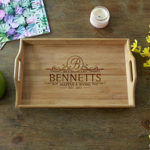 Personalized Wood Serving Tray   Bennett