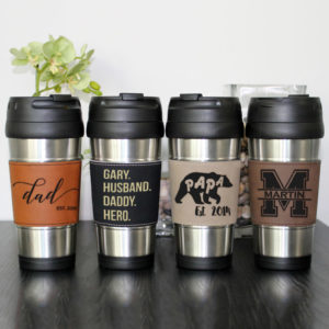 Leather Travel Mug
