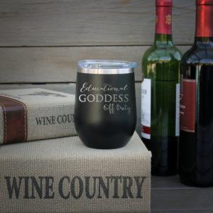 Personalized Wine Tumbler   Goddess