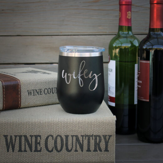 Personalized Wine Tumbler | Wifey