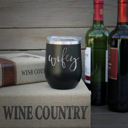 Personalized Wine Tumbler | Wifey