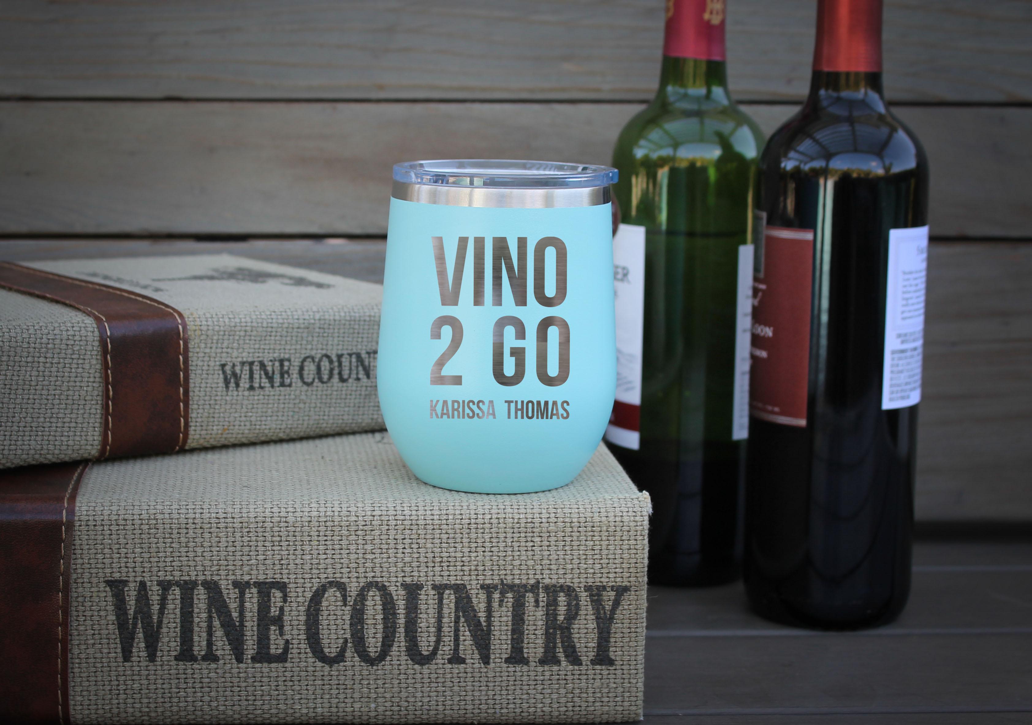 Personalized Wine Tumbler Vino 2 Go