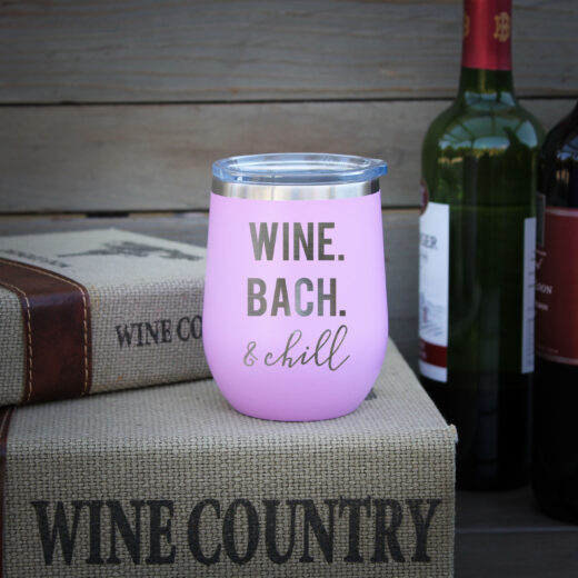 Personalized Wine Tumbler | Bach