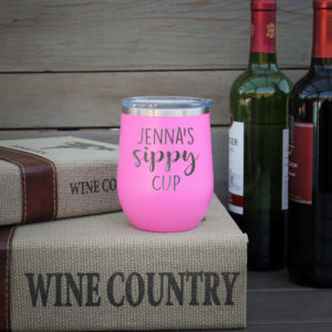 Personalized Wine Tumbler | Jenna