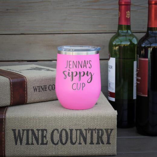 Personalized Wine Tumbler Jenna