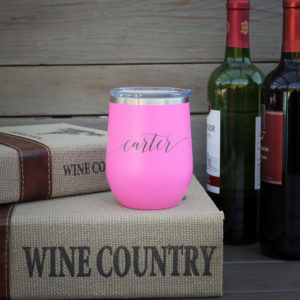 Personalized Wine Tumbler   Carter