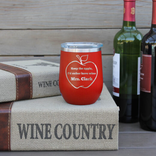 Personalized Wine Tumbler | Mrs Clark