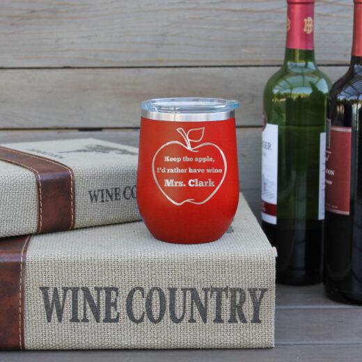 Personalized Wine Tumbler | Mrs Clark