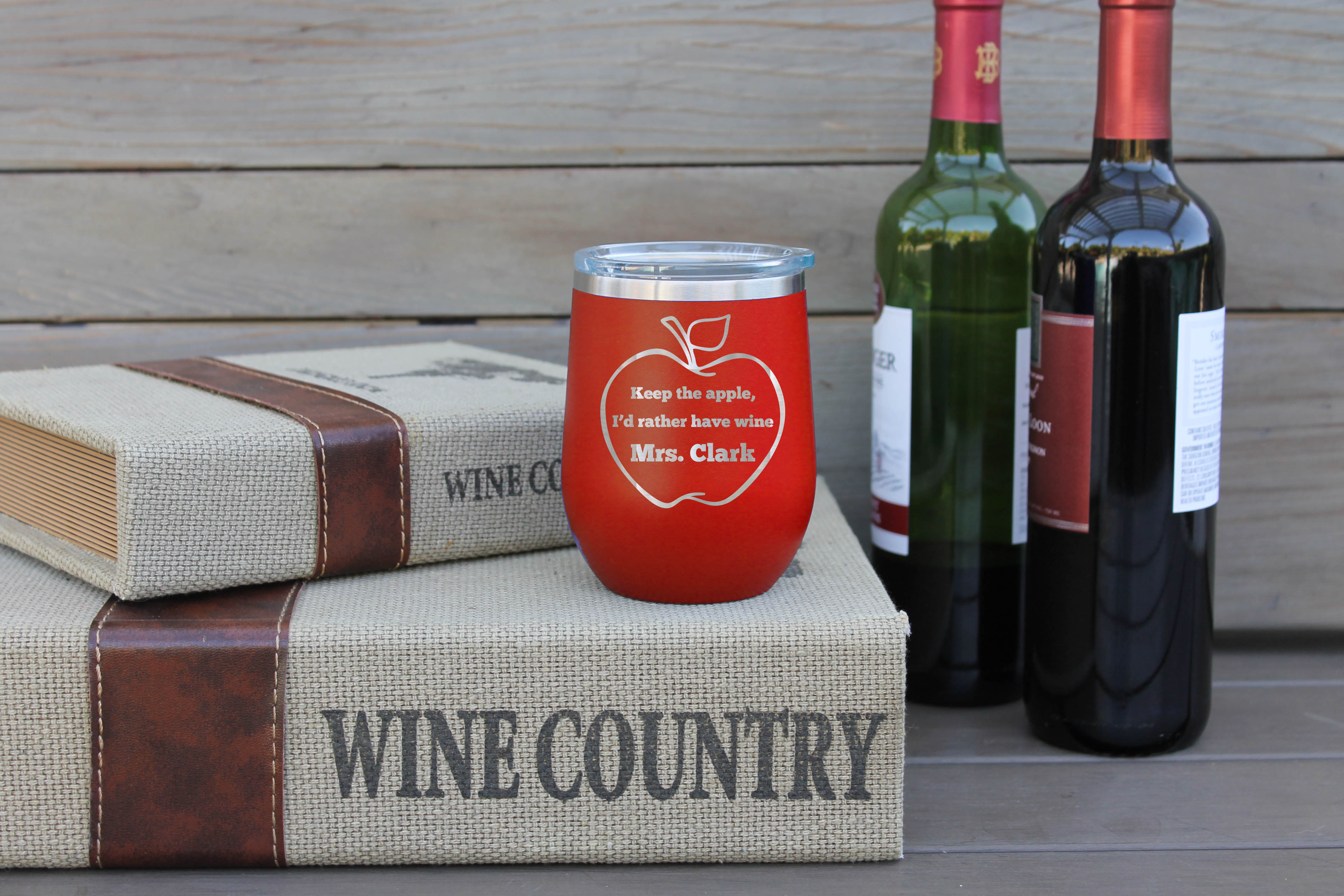 Personalized Wine Tumbler Mrs Clark