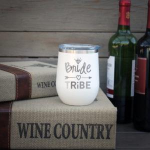 Personalized Wine Tumbler   Bride Tribe