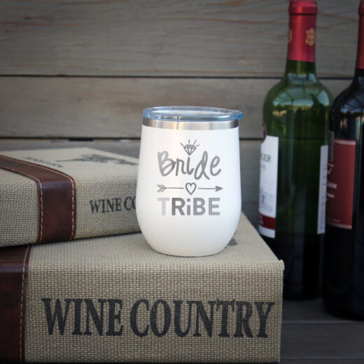 Personalized Wine Tumbler | Bride Tribe