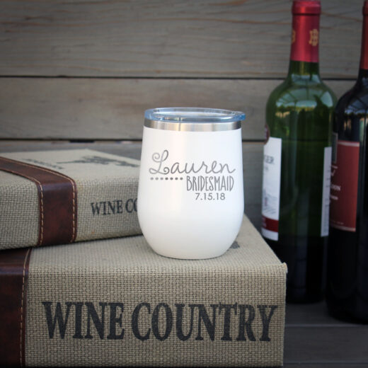 Personalized Wine Tumbler | Lauren