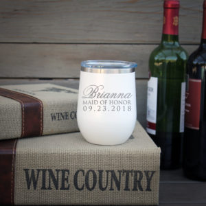 Personalized Wine Tumbler | Brianna