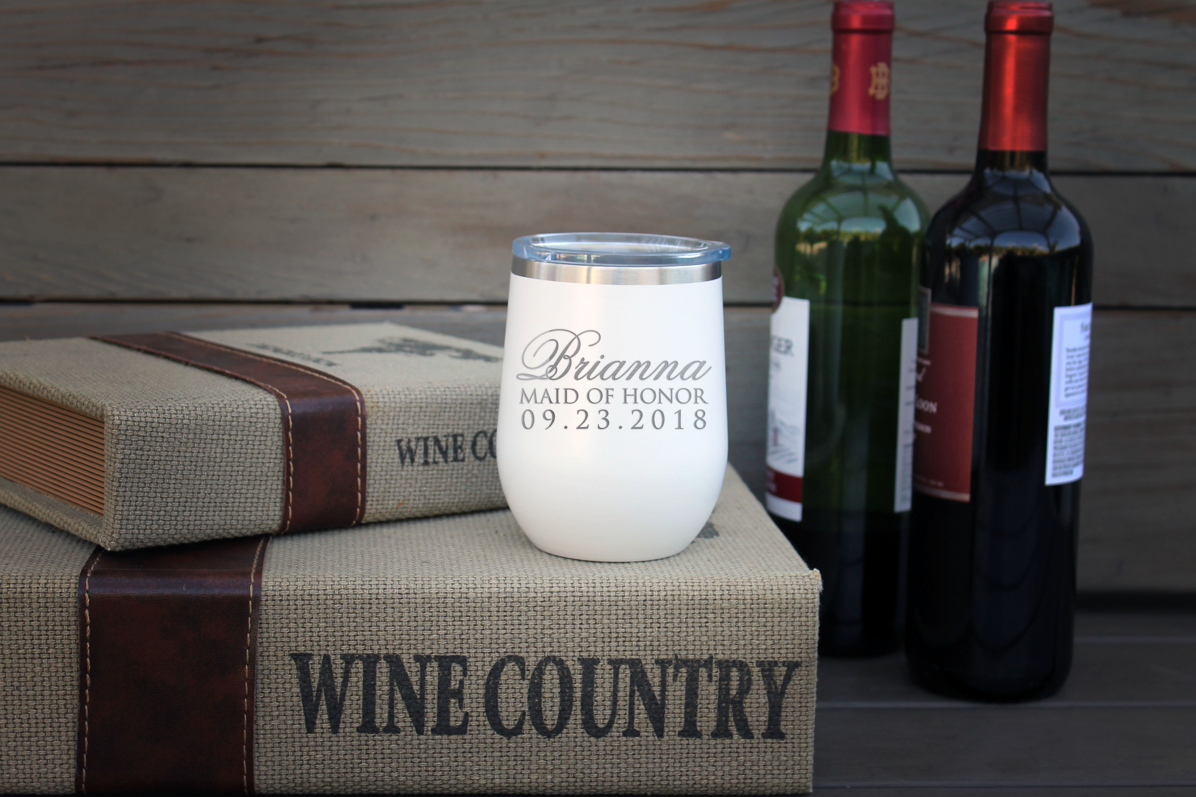 Personalized Wine Tumbler | Brianna