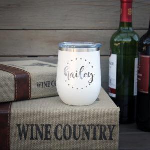 Personalized Wine Tumbler   Hailey