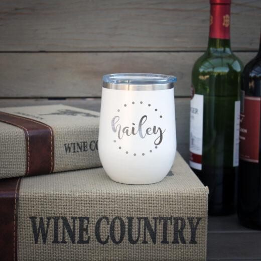 Personalized Wine Tumbler | Hailey