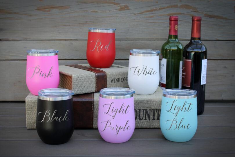 Wine Tumbler Color Options
