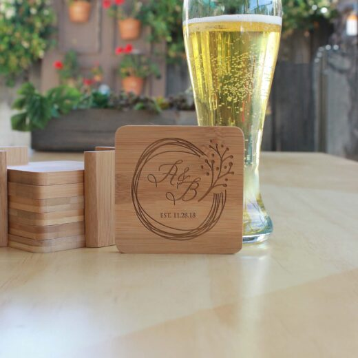 Personalized Bamboo Coasters | AB