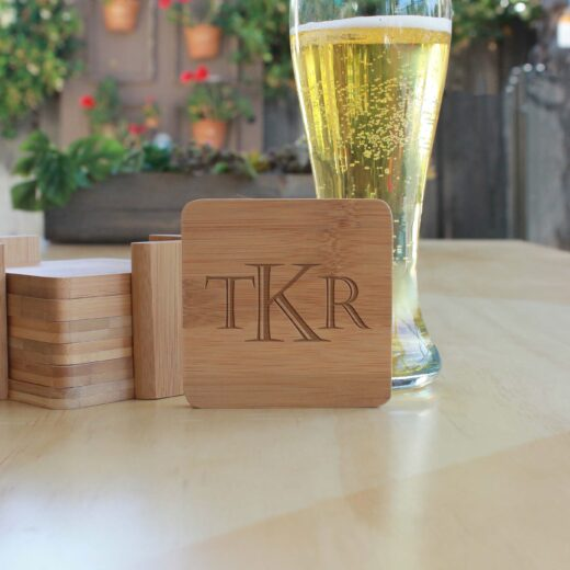 Personalized Bamboo Coasters | TKR