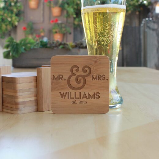 Personalized Bamboo Coasters | Williams