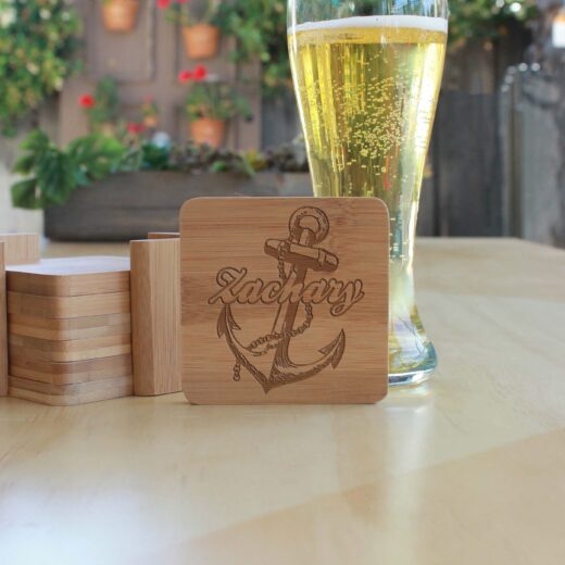 Personalized Bamboo Coasters |Zachary