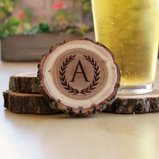 Personalized Wood Log Coasters | A Reef
