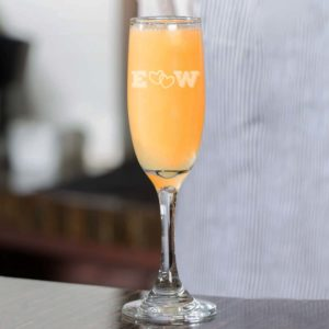 Personalized Wedding Champagne Flute | E Heart W