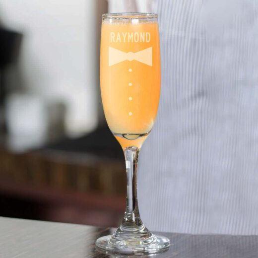 Personalized Wedding Champagne Flute | Raymond