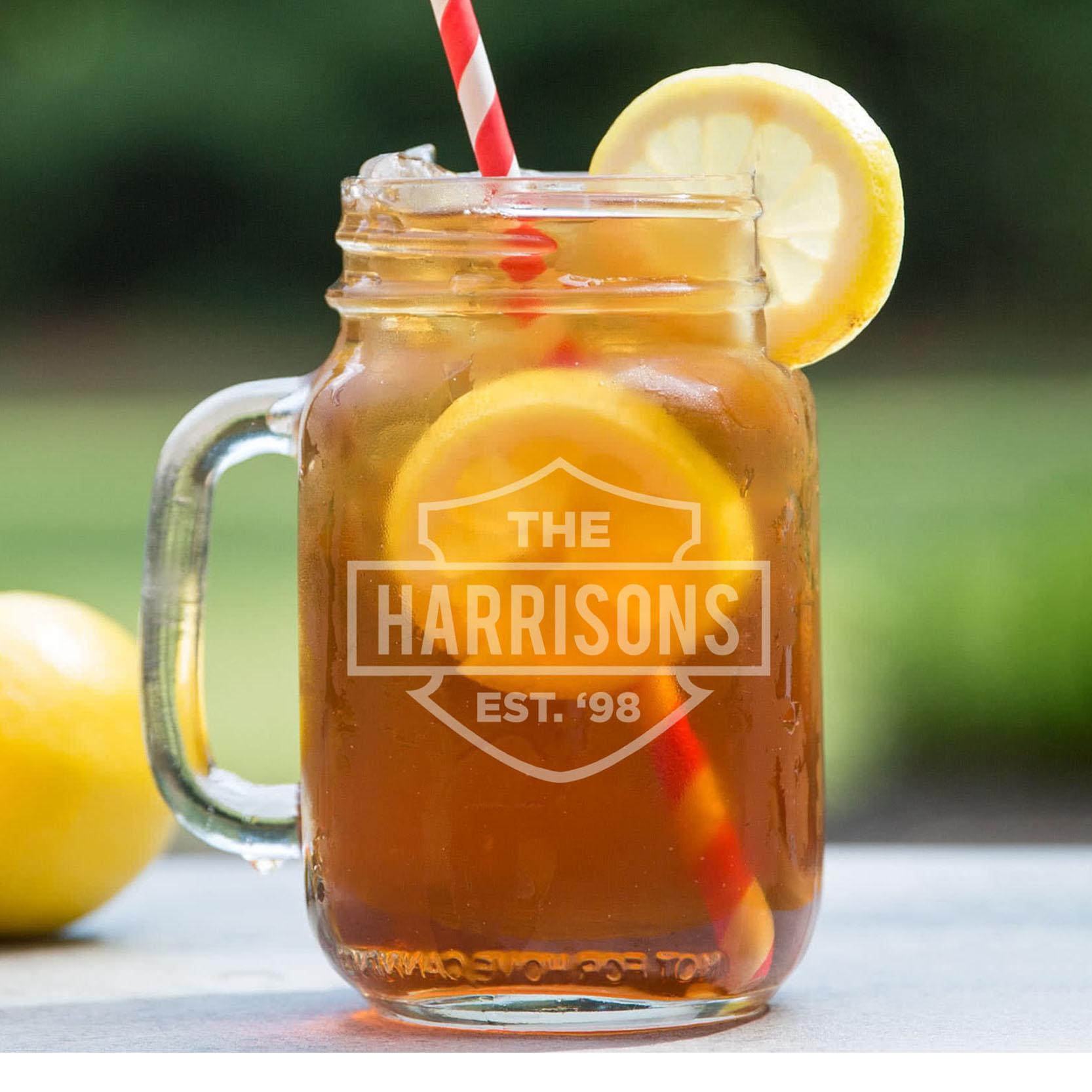 Personalized Mason Jar   Harrisons