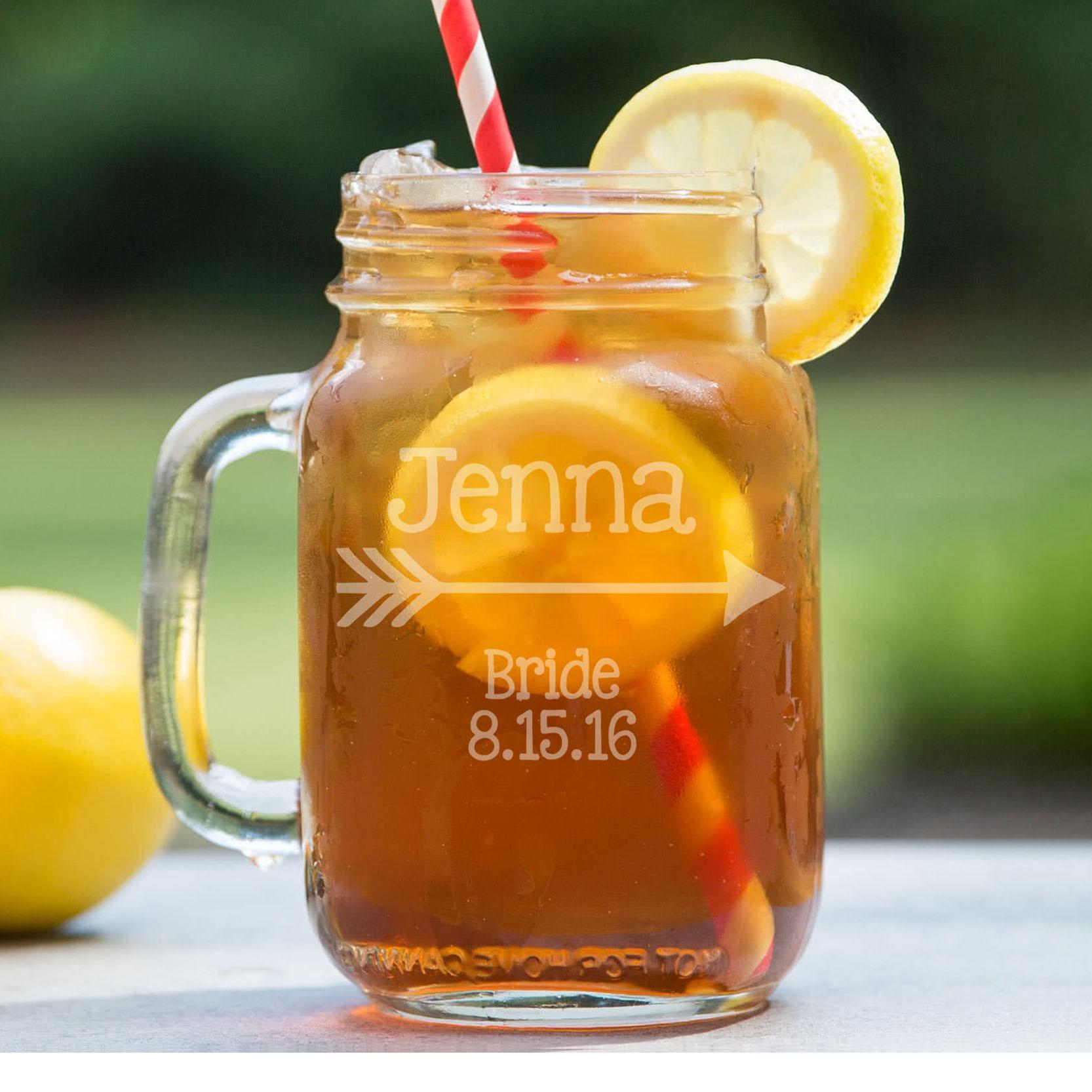 Personalized Mason Jar   Jenna