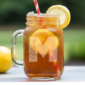 Personalized Mason Jar   Mario