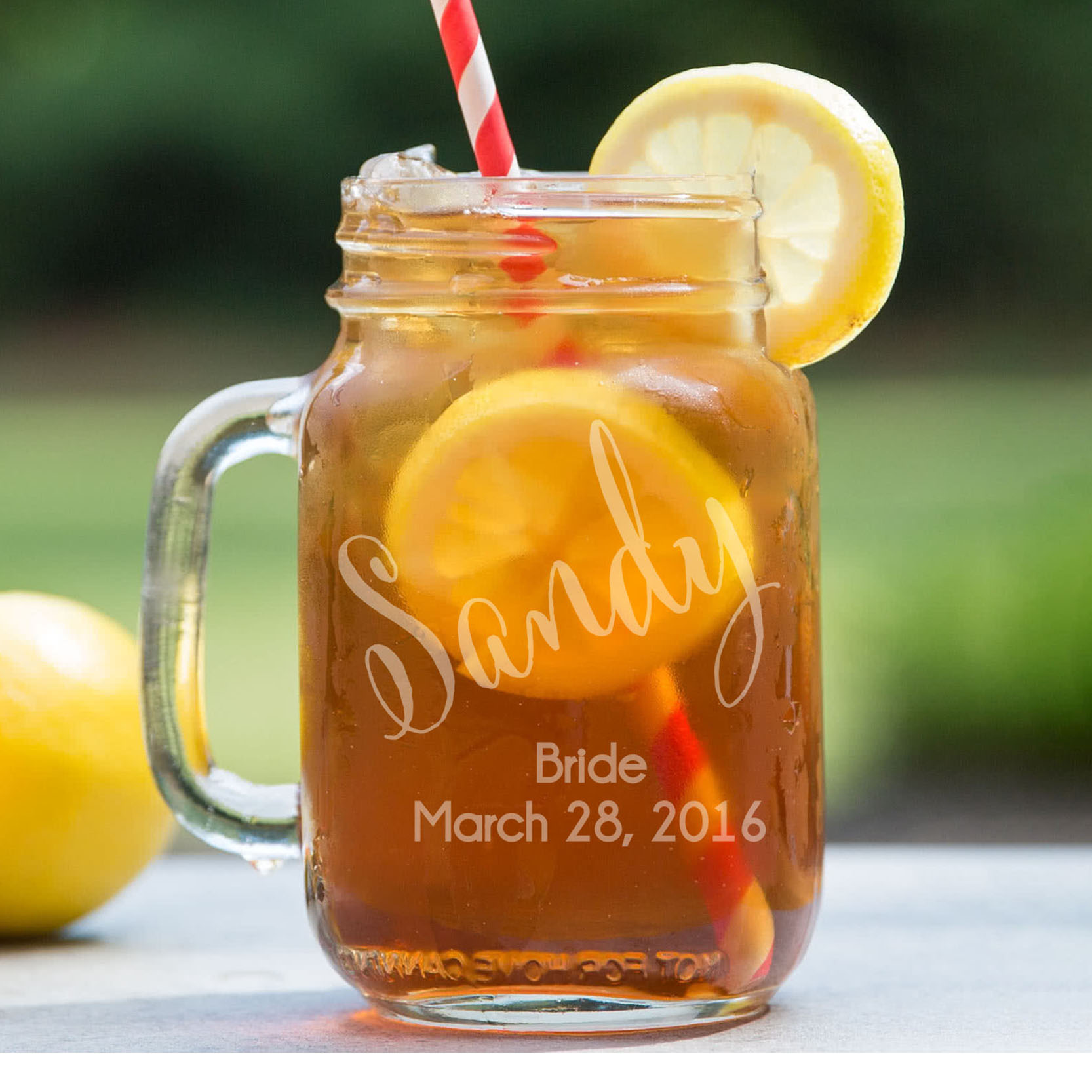 Personalized Mason Jar | Sandy